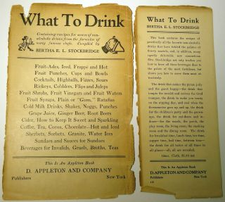 What to Drink, The Blue Book of Beverages