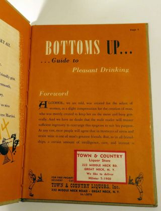 Bottoms Up, Guide to Pleasant Drinking