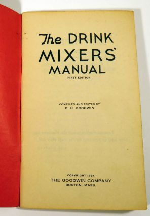 The Drink Mixers' Manual