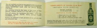 Havana Club Special Cocktail [Recipe Card] [Two Cards]